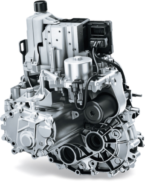 CVT(Continuously Variable Transmission、連続可変トランスミッション)より2~3割は軽いというAGS(Auto Gear Shift)ユニット